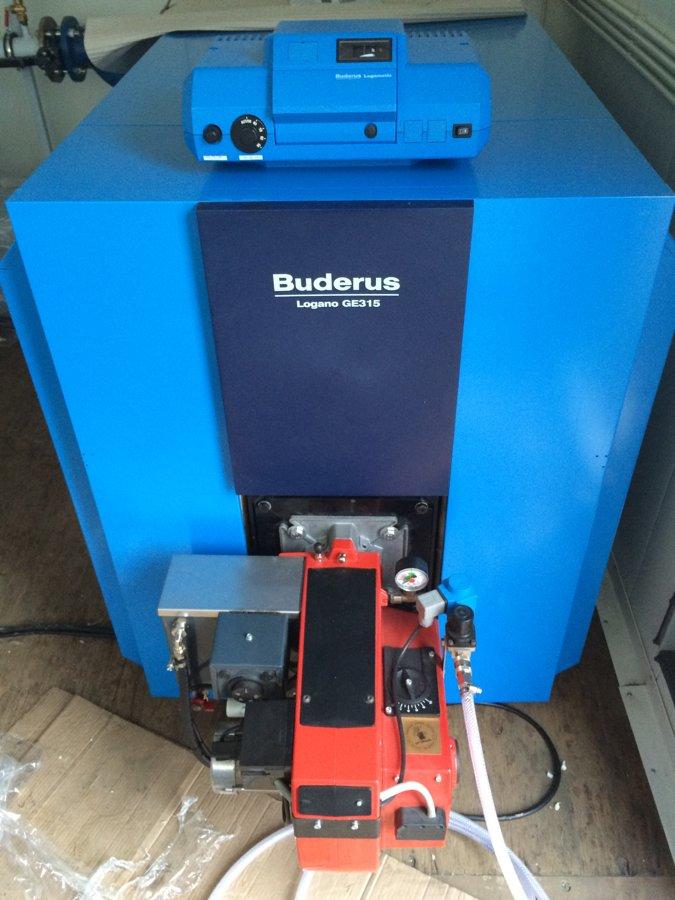Liquid Fuel Boiler + Universal Oil Burner